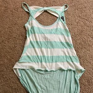 Wet Seak Striped tank with a cut out in the back